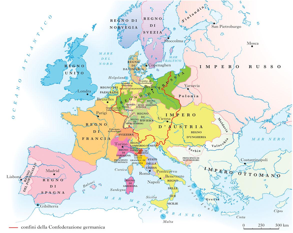 Cartina Storica Dell Europa.Le64063lm2015 Carta Dell Europa Del Congresso Di Vienna